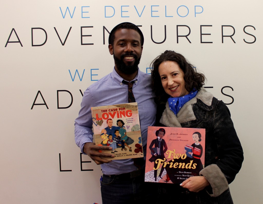 "Husband and wife Sean Qualls and Selina Alko collaborated to create their award-winning book ""The Case for Loving: The Fight for Interracial Marriage"", and co-illustrated ""Two Friends; Susan B. Anthony & Frederick Douglass"". Be on the lookout for their next two books, which will be released in 2017!"